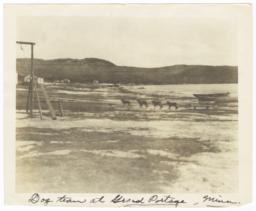 Dogsledding Team at Grand Portage, Minnesota