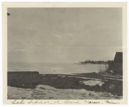 Shore and View of Lake Superior at Grand Marais, Minnesota
