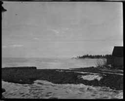 Shore and View of Lake Superior at Grand Marais, Minnesota
