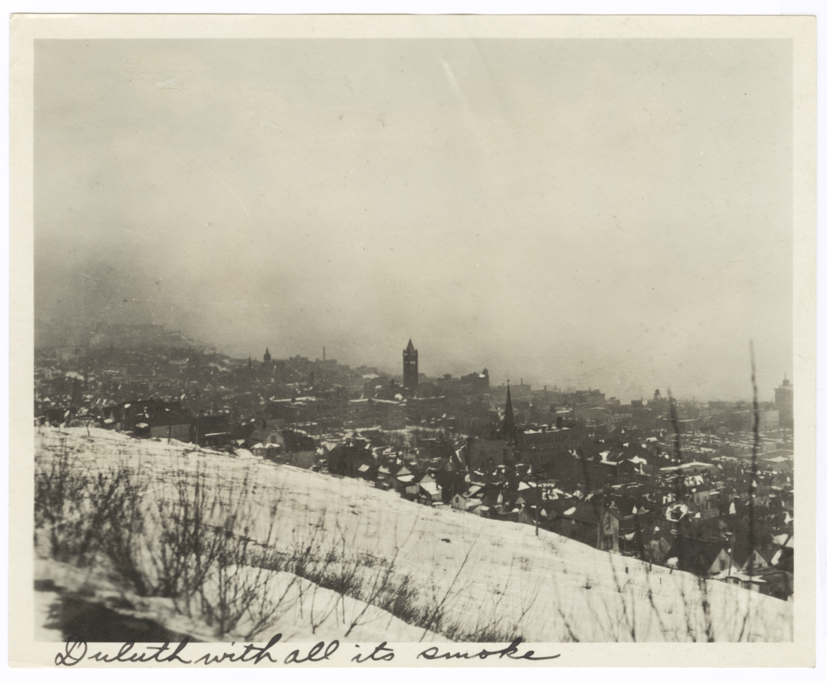 View of Duluth, with All Its Smoke