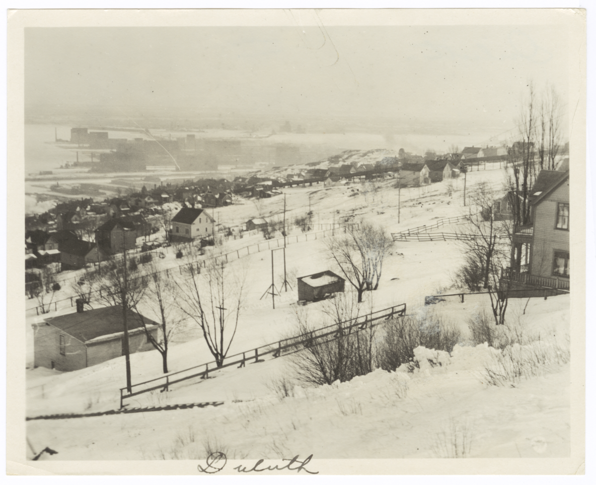 View of Duluth in the Snow