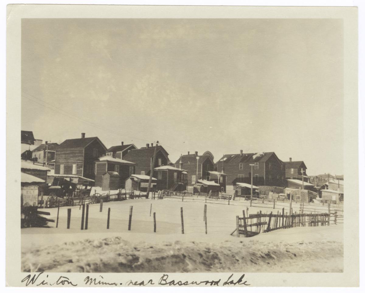 View of Winton, Minnesota, near Basswood Lake