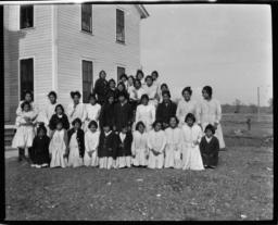 Children at the Cross Lake School, Red Lake Reservation, Minnesota