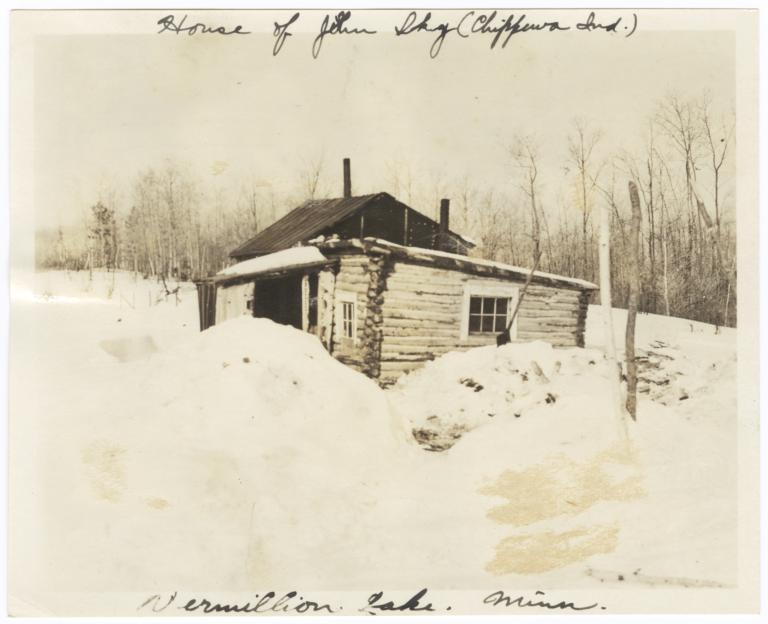 House of John Sky, a Chippewa Indian, on Vermilion Lake, Minnesota