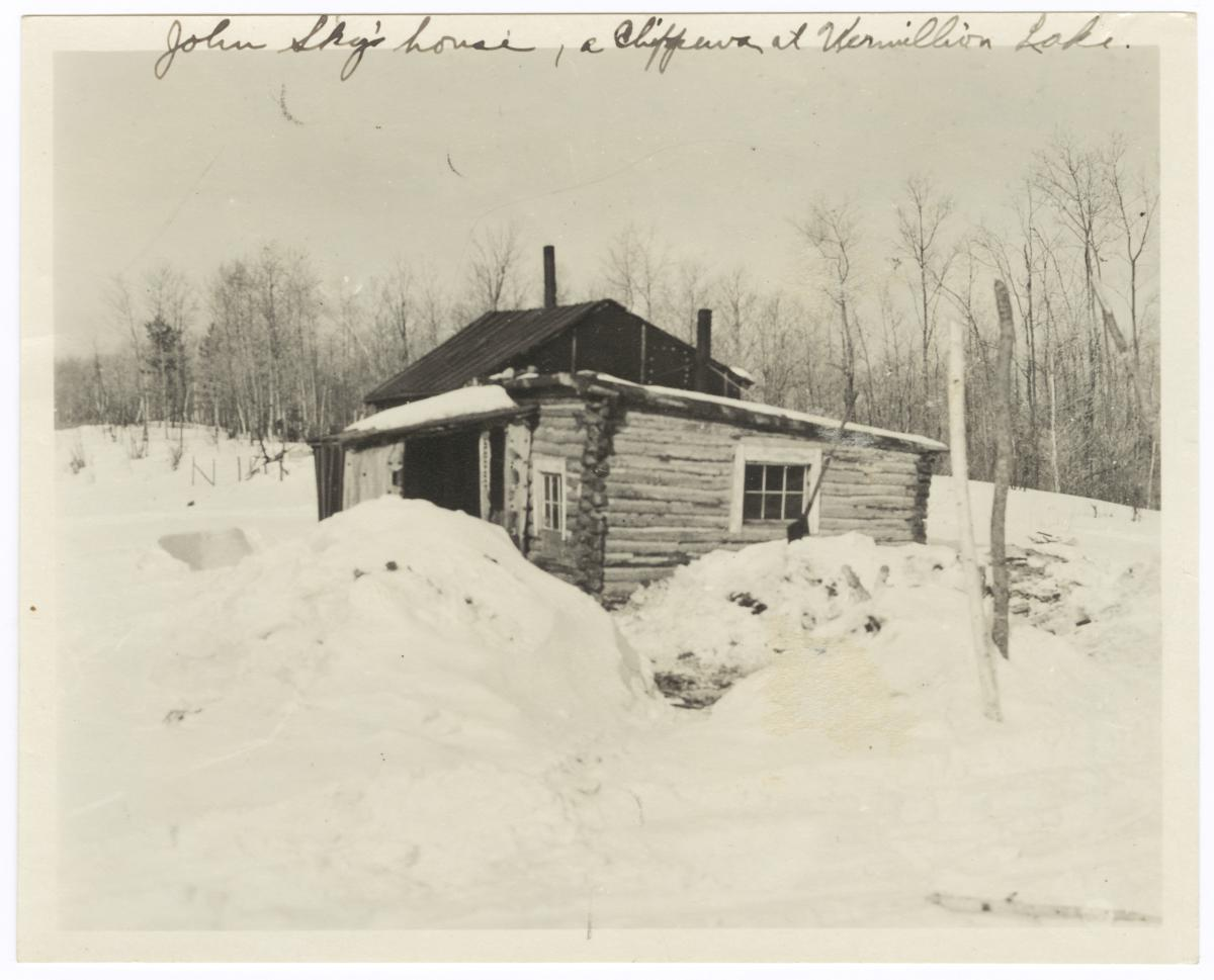 House of John Sky, a Chippewa Indian, on Vermilion Lake, Minnesota
