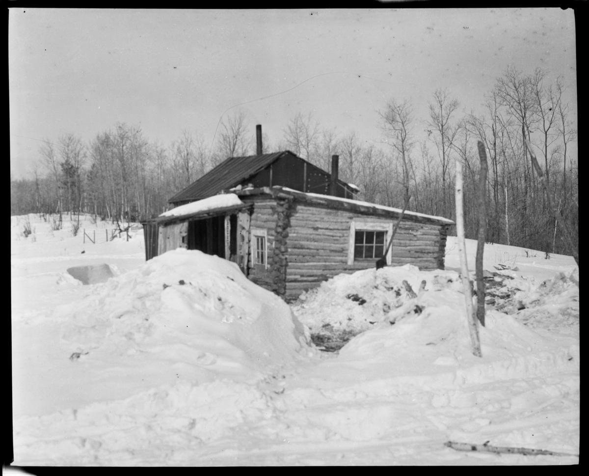 House of John Sky, a Chippewa Indian on Vermilion Lake, Minnesota