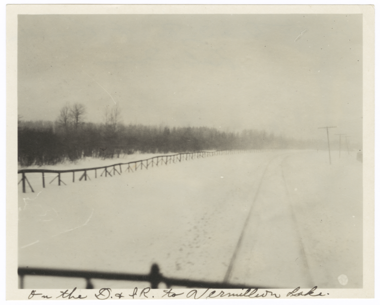View from the Duluth & Iron Range Railroad  to  Vermilion Lake, Minnesota