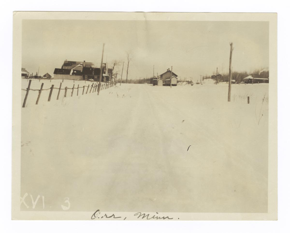 Winter View of Orr, Minnesota