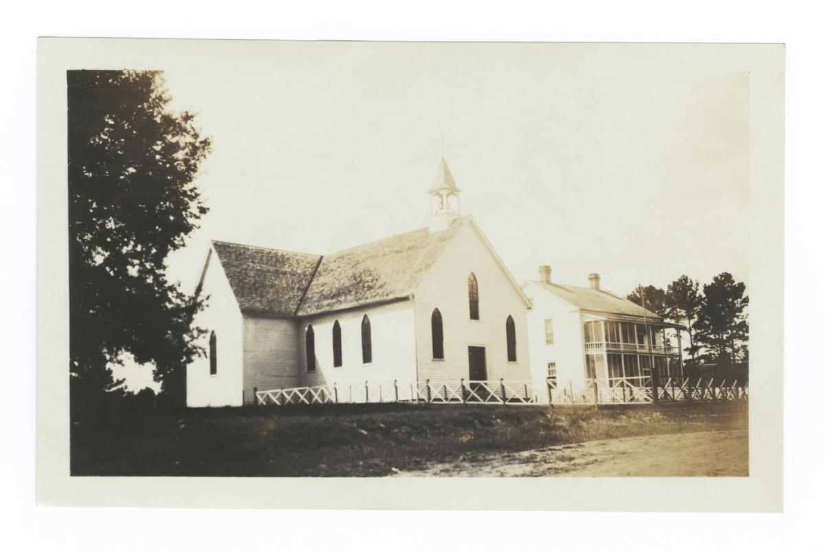 Roman Catholic Church and Rectory at the Choctaw Indian Mission, Tucker, Mississippi