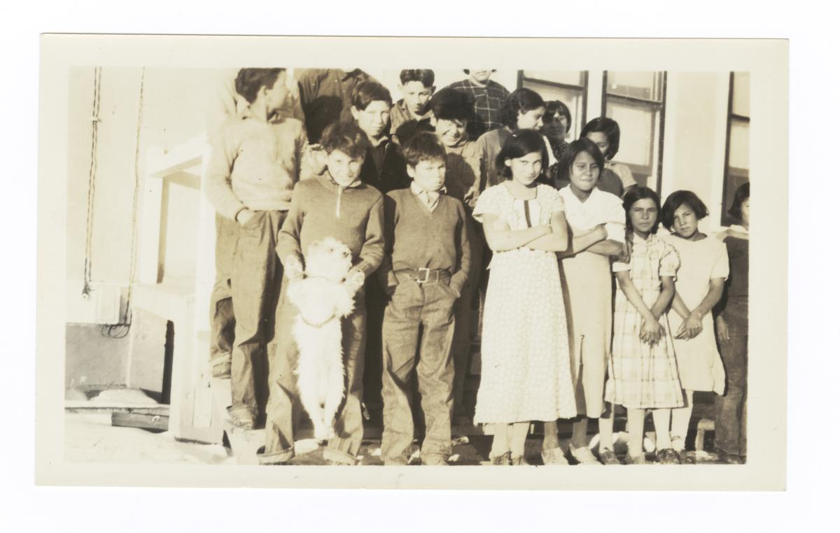 Students at the Rocky Boy Indian Day School