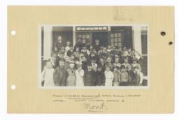 Children at the Pablo Public School, Flathead Reservation, Montana
