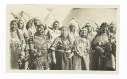 Group of  American Indian Men and Women in Traditional Dress