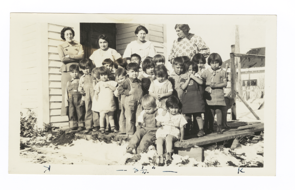 Youth at a Nursery School, Browning, Montana