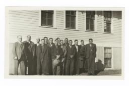Group Portrait Taken at the Blackfeet Council, 1935