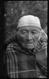 Portrait of an Elderly American Indian Woman
