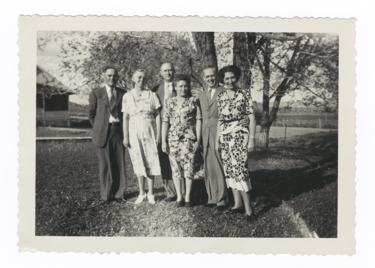 Group Portrait of Three Missionary Couples, Dulce, New Mexico