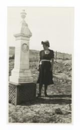 Mrs. F.W. Seymour near the Grave of Chief Joseph