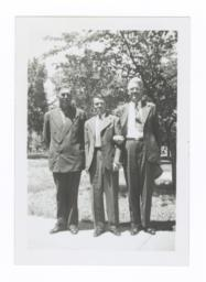Howard Frazier, Oscar Gardner, and G.E.E. Lindquist at Yankton, South Dakota