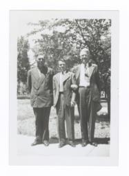 Howard Frazier, Oscar Gardner, and G.E.E. Lindquist at Yankton, South Dakota