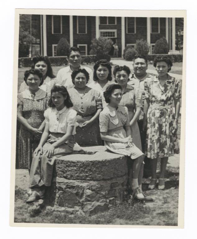 Comanche Mission Group at Dwight Mission School, near Vian, Oklahoma