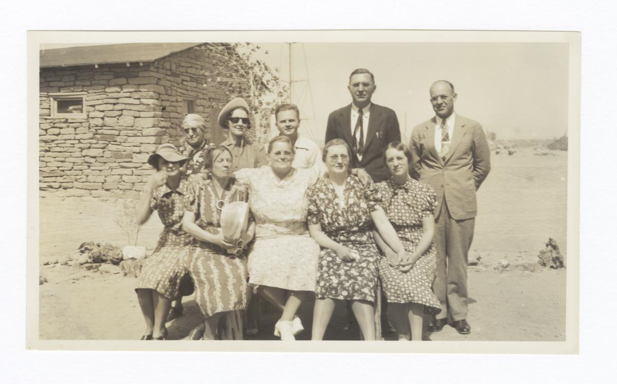 Group at the Mennonite Mission at Oraibi, Arizona