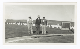 Three Men at a Cemetery