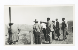 Group of Men at Overlook