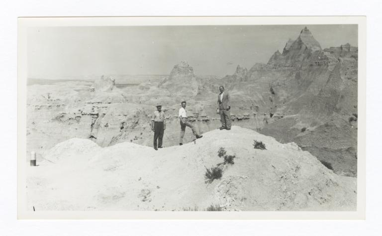 Three Men before Canyon