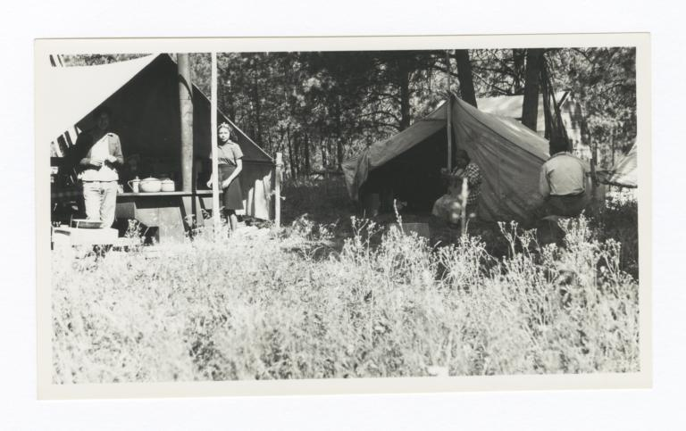 Four People Living at a Camp