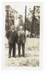Portrait of M.K. Sniffen and George La Vatta, Talmaks, Idaho
