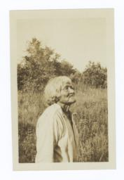 Elder American Indian Man in Field