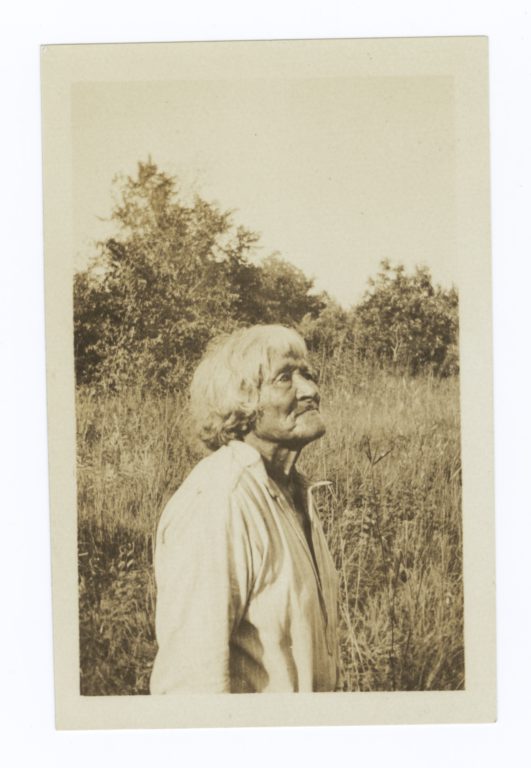 Elder American Indian Man in Field