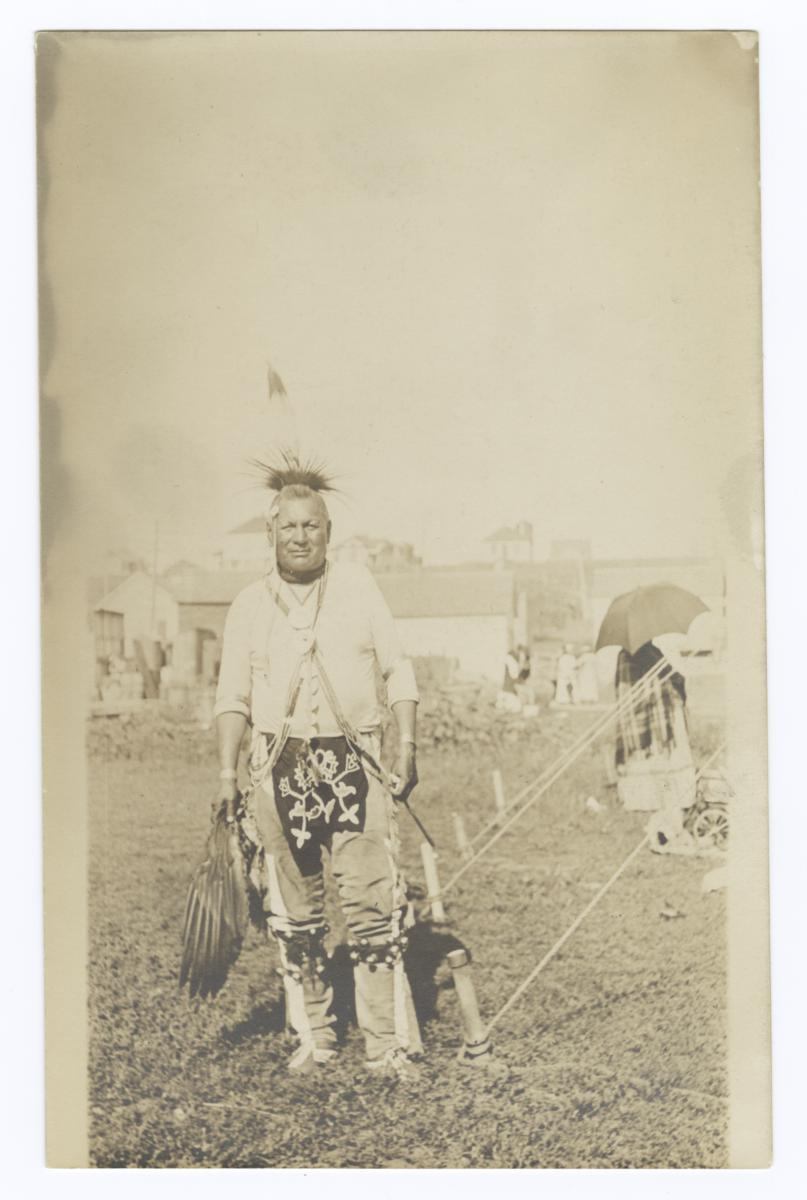 American Indian Man with Headdress