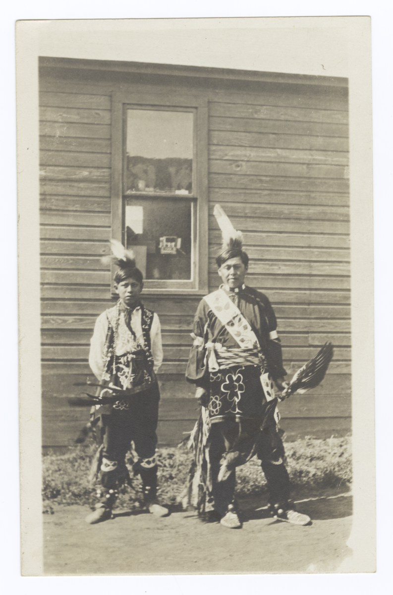 American Indian Boys in Traditional Dress