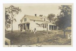 J.J.Brittell, Family and House, Macy, Nebraska