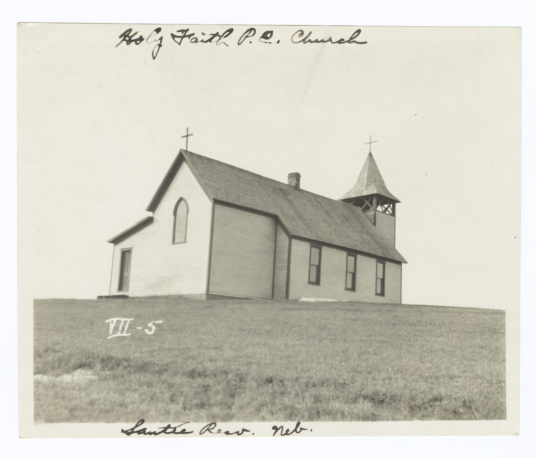 Holy Faith Protestant Episcopal Church, Santee Reservation, Nebraska