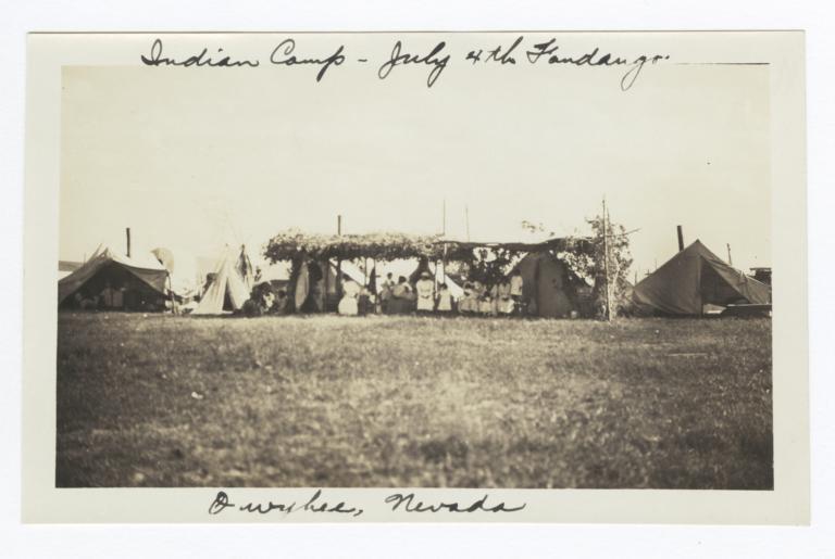 Indian Camp for Fourth of July Fandango, Owyhee, Nevada