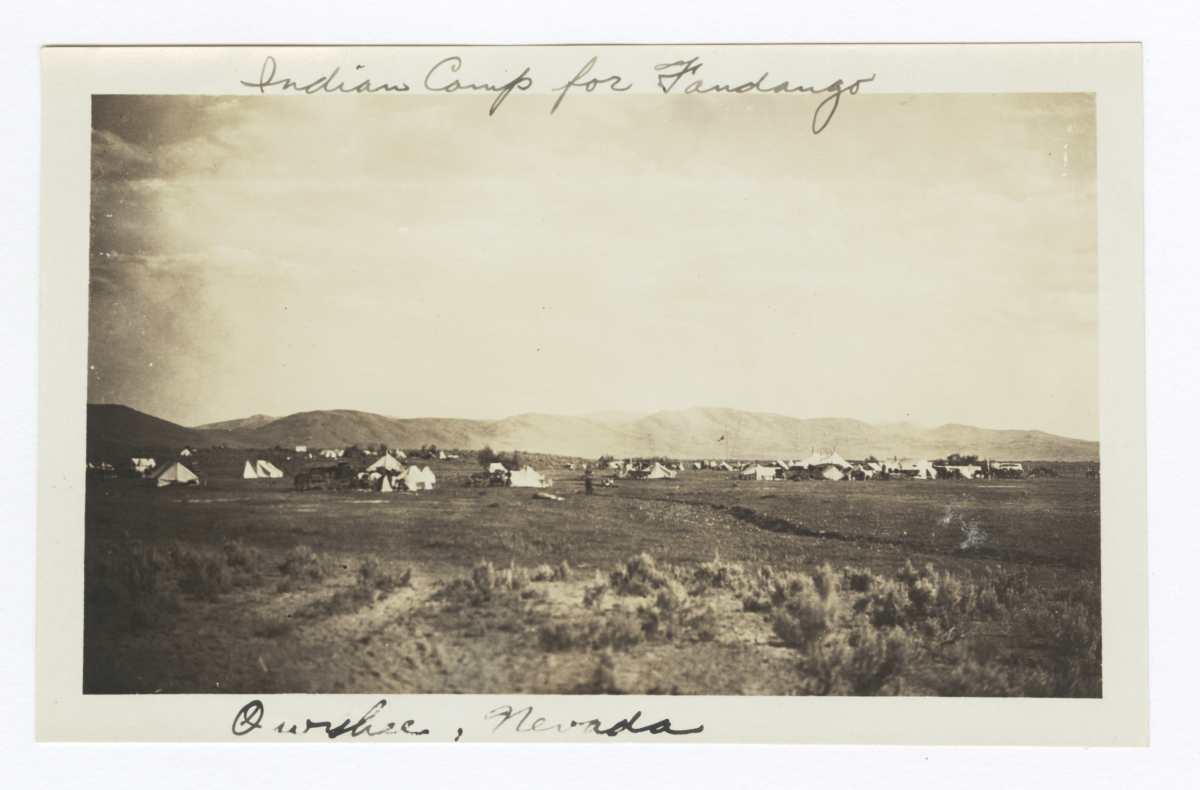Indian Camp for Fourth of July Fandango, Owyhee, Nevada