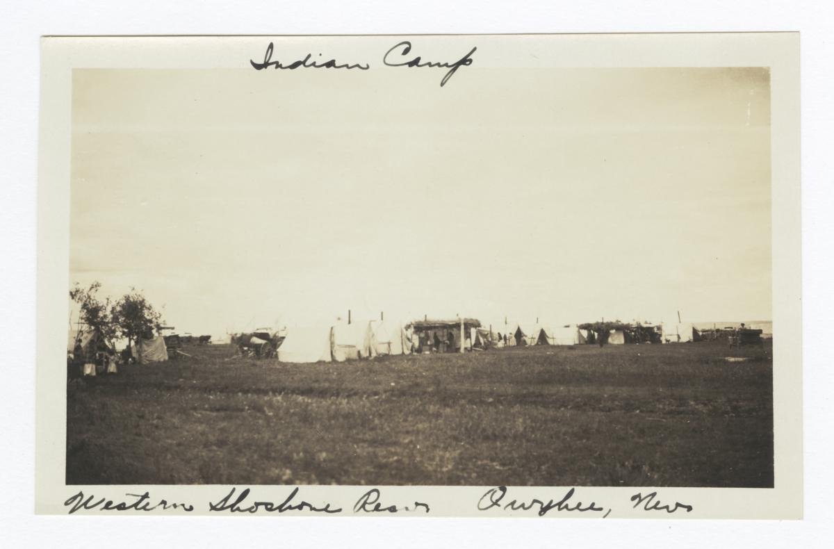 Indian Camp, Western Shoshone Reservation, Owyhee, Nevada