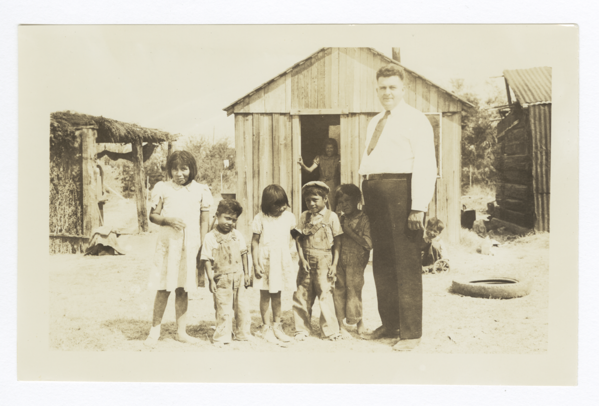 Reverend F.O. Burnett and American Indian Children, Las Vegas, Nevada