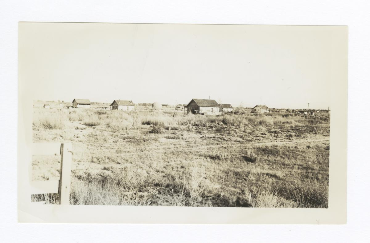 View of Indian Cabins at Campbell Ranch,  near Yernington, Nevada