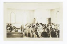 Interior of the Methodist Episcopal Mission, Schurz, Nevada