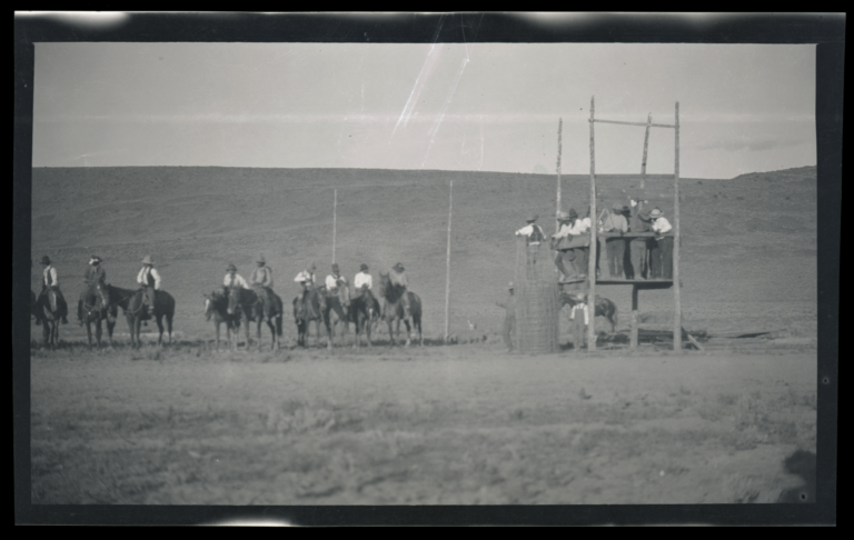 Judges' Stand and Race Track at the Western Shoshone Reservation, Owyhee, Nevada