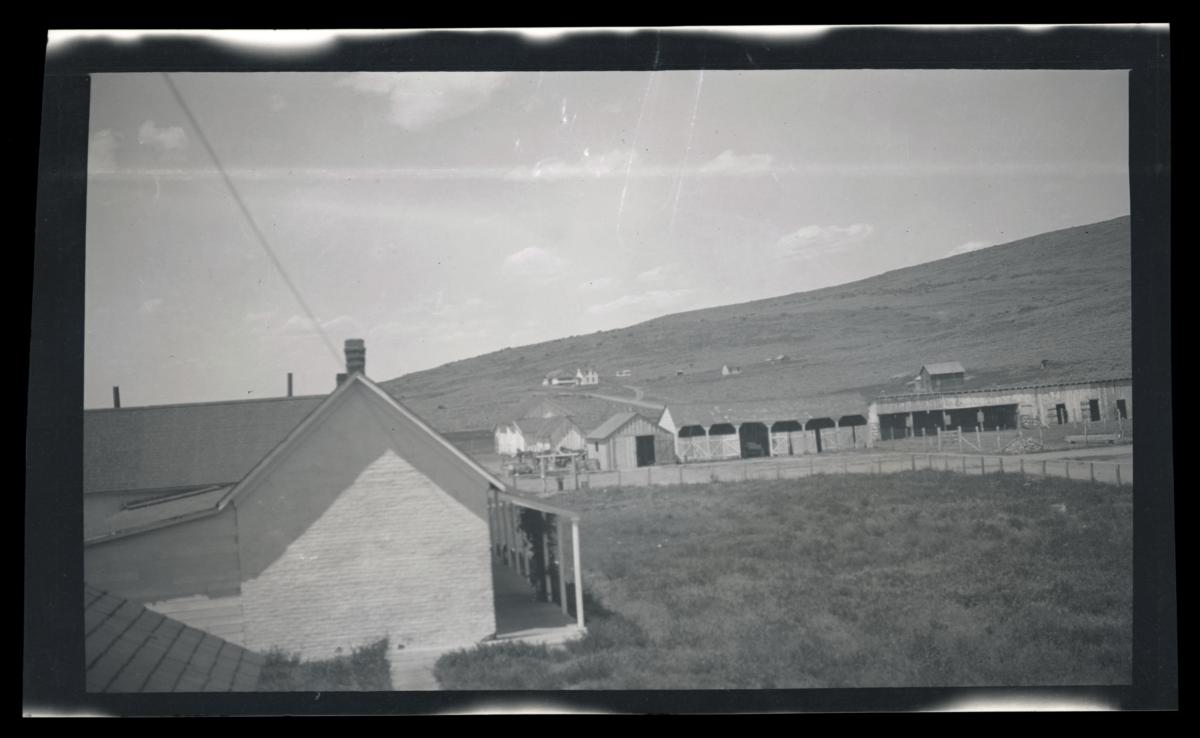 Looking North from Western Shoshone Agency Office, Owyhee, Nevada