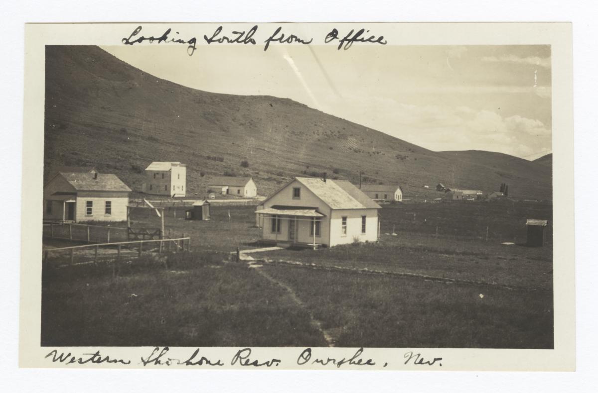 Looking South from Western Shoshone Agency Office, Owyhee, Nevada