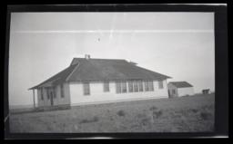 School building at the Western Shoshone Reservation, Nevada