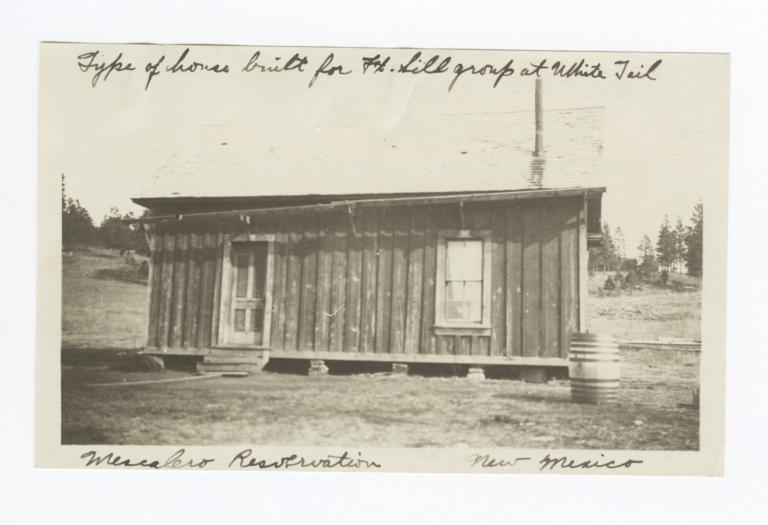 Type of House Built for Fort Sill Group at Whitetail, Mescalero Reservation, New Mexico