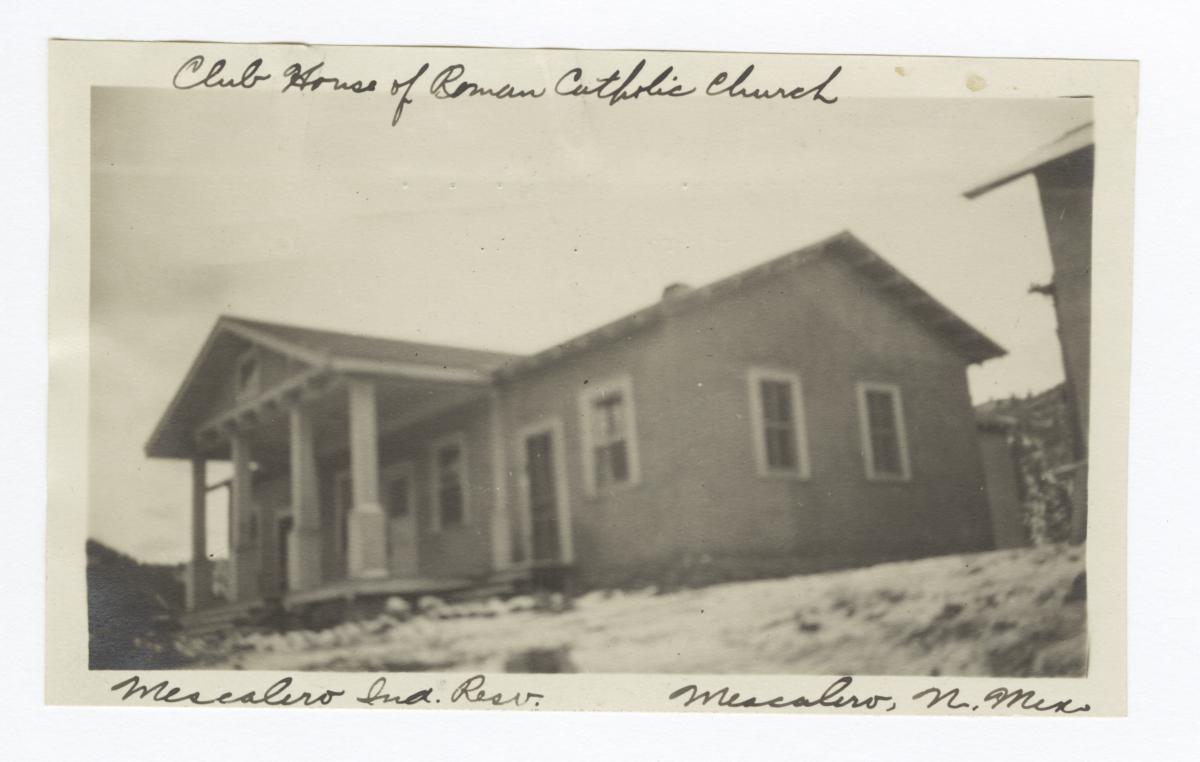 Club House of Roman Catholic Church, Mescalero Indian Reservation,  Mescalero, New Mexico
