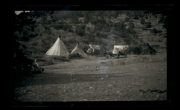 Tipis and Other Buildings on Mescalero Reservation, New Mexico