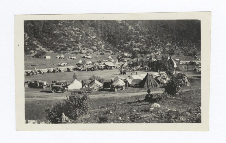 Indians Gathered in Camp for Annual Feast, Mescalero, New Mexico